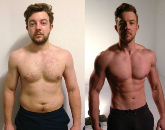 personal trainer London - Mark Samsun 12 week transformation